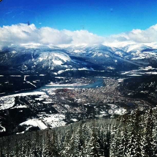 Revelstoke, BC from above (at La Baguette)
