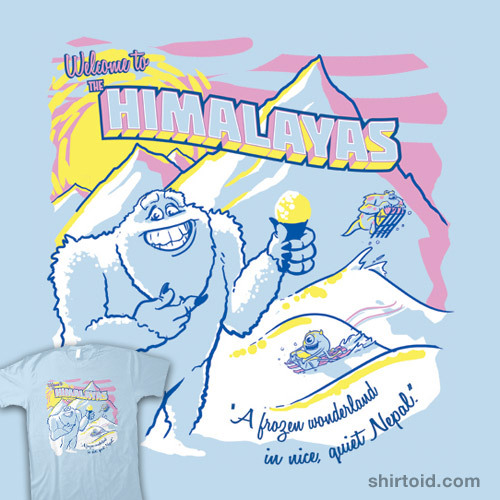 Himalayas Souvenir Tee by Rocky Alexander is available at Threadless