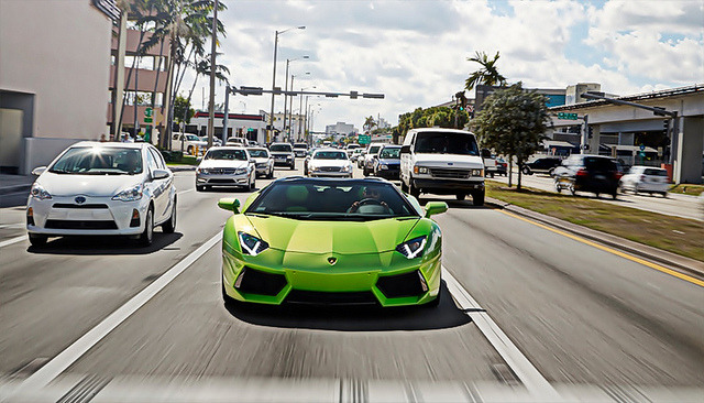 Green Lamborghini Aventador Roadster by SSsupersports on Flickr.TheAutoBible.Com