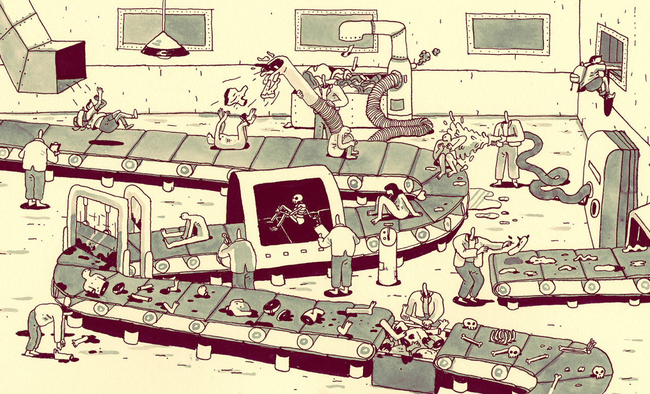 Dis-Assembly Line. Another spread from my little book: Shorcut still available here.