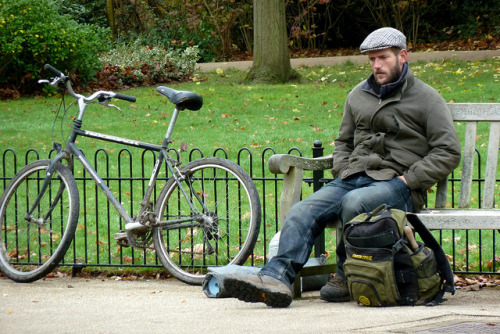 Working Man and Bicycle by Discours de Bayeux on Flickr.