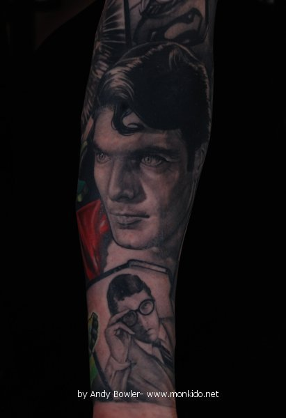 Part of a Superman sleeve by Andy Bowler