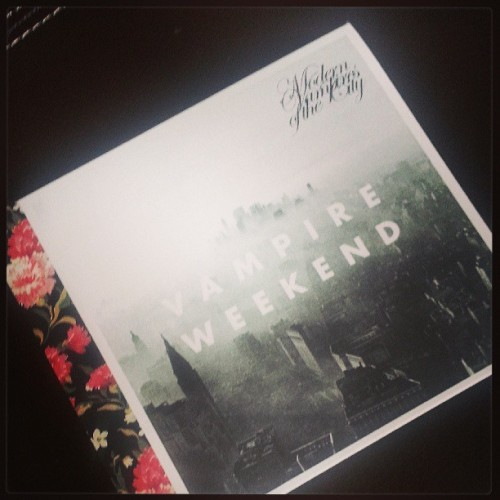 Really excited to listen to this today. #vampireweekend #modernvampiresofthecity