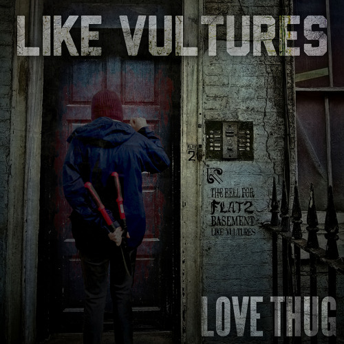 noregretsmerch:  Album art for Like Vultures' single, Love Thug.https://www.facebook.com/LikeVulturesOfficial  this <3