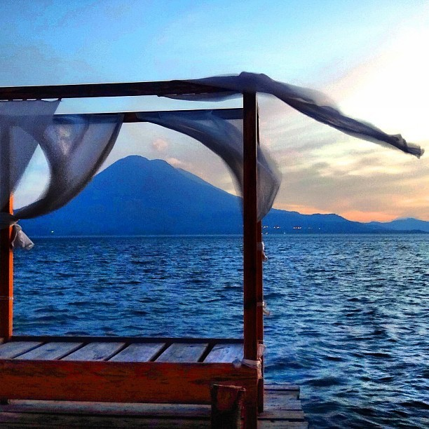 A perfect setting for lovers. (at Santa Cruz, Lake Atitlan, Guatemala.)