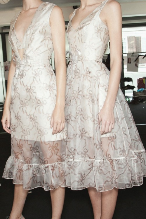 Christopher Kane s/s 2013 backstage