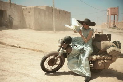 calivintage:   (via Edie Campbell Poses in Morocco for Peter Lindbergh in Vogue US June 2013 | Fashion Gone Rogue: The Latest in Editorials and Campaigns)