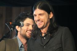 oksoiwaswrongabout:  Scott and Seth Avett during Avett Family Gospel Hour at MerleFest.