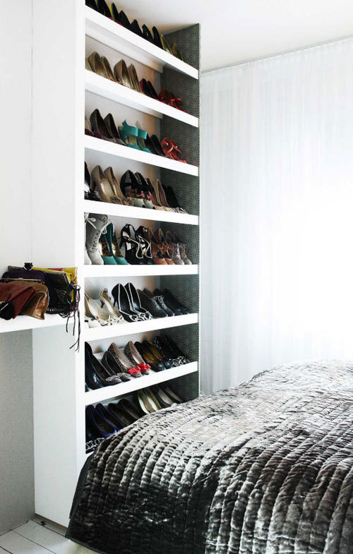myidealhome:  DIY inspiration: well exposed shoes collection (via desire to inspire)