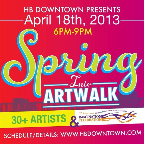 ocartwalk:  Huntington Beach Art Walk third Thursday from 6-9pm!                                               Stop by our section at the Plaza Almeria Courtyard (third block on Main Street - In between Olive & Orange) for free giveaways and live art by:                                                                         •Steev Moreno                        •Camille Murray                        •Mike McGinn                       •Annie Sturm                         #ocartwalk #art #music #fashion #huntingtonbeach  One day I intend to be a part of this