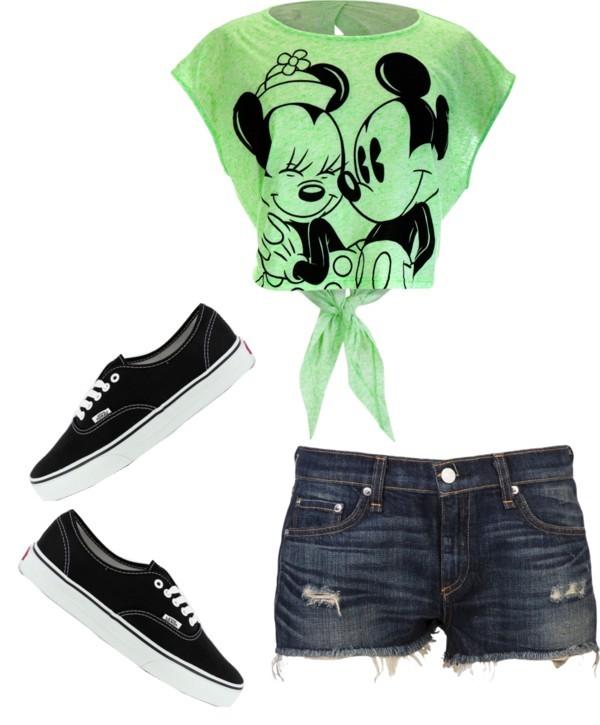 Summrr by shaelovesmb featuring cut off shortsT shirt / Rag & bone cut off shorts / Vans black shoes