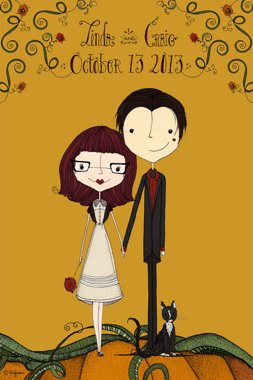 just finished a cute little Save the Date illustration :)