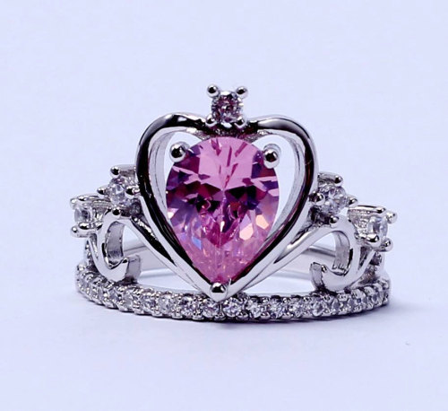 Crown Ring Disney Bride Hamsa Pink Ring Sapphire Beyonce Unicorn Cat Lovers Sterling Silver