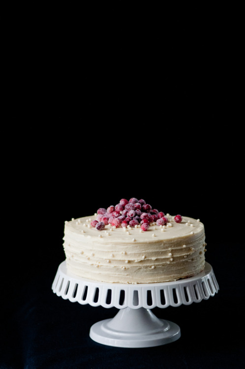 white chocolate cranberry cake from Hungry Rabbit