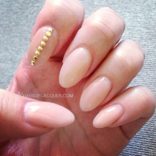 hausoflacquer:  Simple and classy gels for @krystlefu done at @crownthequeens #nailart #nails #nailed #nailporn #nailswag #gelsculpture #gelnails #studs