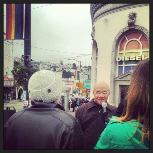 Interview on Castro St. in San Francisco!