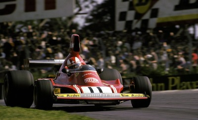Ferrari Friday … on the limitClay Regazzoni, Ferrari 312B3, 1974 British Grand Prix, Brands Hatch