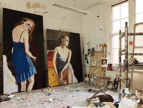 Jessica Chastain by Chantal Joffe