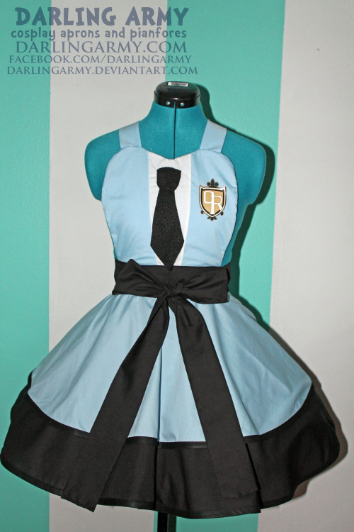 Ouran High School Host Club  Cosplay Pinafore By Darling Army  I'm so so so so so sorry that this took so long to come out. Like Rainbow Dash, I've had the vinyl for this pinafore done forever. Poor pinafore!Anywho, now Haruhi won't have to wear a boy's uniform to be a part of the host club (though I bet Tamaki would wear this before her).  So excited to finally release this! I want to be fem!Tamaki and wear a pretty blonde wig with it!  I only accept 20 pinafore orders at a time. Keep checking my Facebook for updates on when I'll be accpeting orders again  =3  Gotta be quick. Spaces fill up in about six hours.  DARLING ARMY FACEBOOK