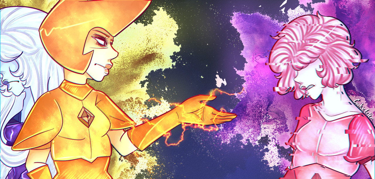 Practicing a combination of drawing and some Photoshop effects. I'm so ready for the upcoming SU special!