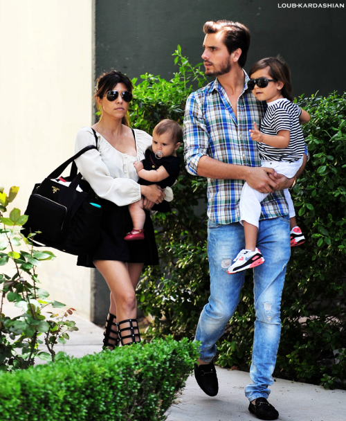 Kourtney, Scott, Mason, & Penelope Out And About In Calabasas, CA (April 7th, 2013)