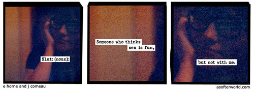 softerworld:  A Softer World: 906 (Sex with me is, admittedly, not fun.) buy this print