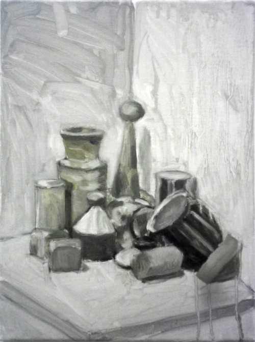 Still life, oil on canvas.