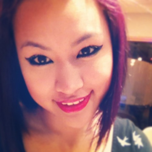 New do new me for the new year ;D mwah #asian #asiangirl #eyes #liner #eyeliner #purple #color #hair #lips #smile #redlips #cute #girl #girly #newyear #asiannewyear