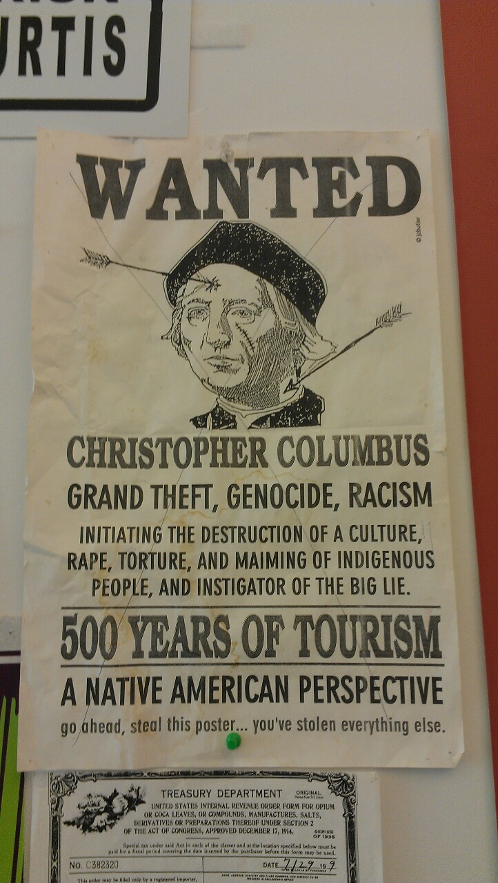 skatepunx:   ikaythegod:  America need to take Christopher Columbus day off the almanac.  can i have like 500 copies of this poster?