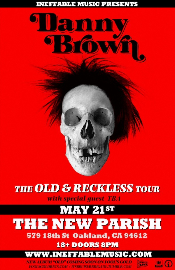 Next Tuesday May 21st, Danny Brown is coming out here for his Old and Reckless Tour at The New Parish. Overdoz. is also opening up for the Detroit native! This is a show you don't want to miss! Buy your tickets here!