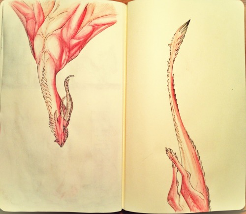 Watercolour pencil moleskine doodle