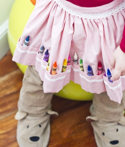 If I ever have a little girl she's going to need this skirt to hold her Crayons. #CreativeChild #Fun