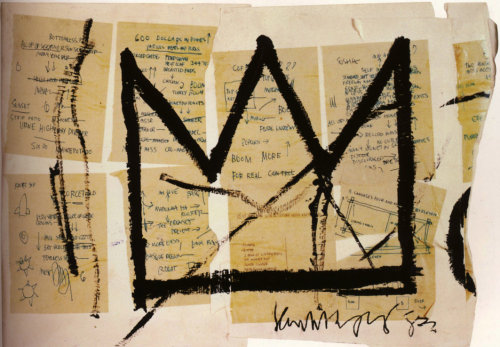 """Crown"" (1983) Illustration by: Jean-Michel Basquiat"