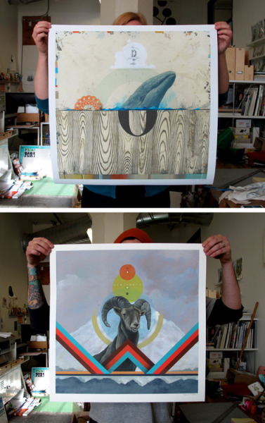 These large prints (at actual size of the original paintings) are available online! They're printed on a textured rag paper and they are luscious. Available here.