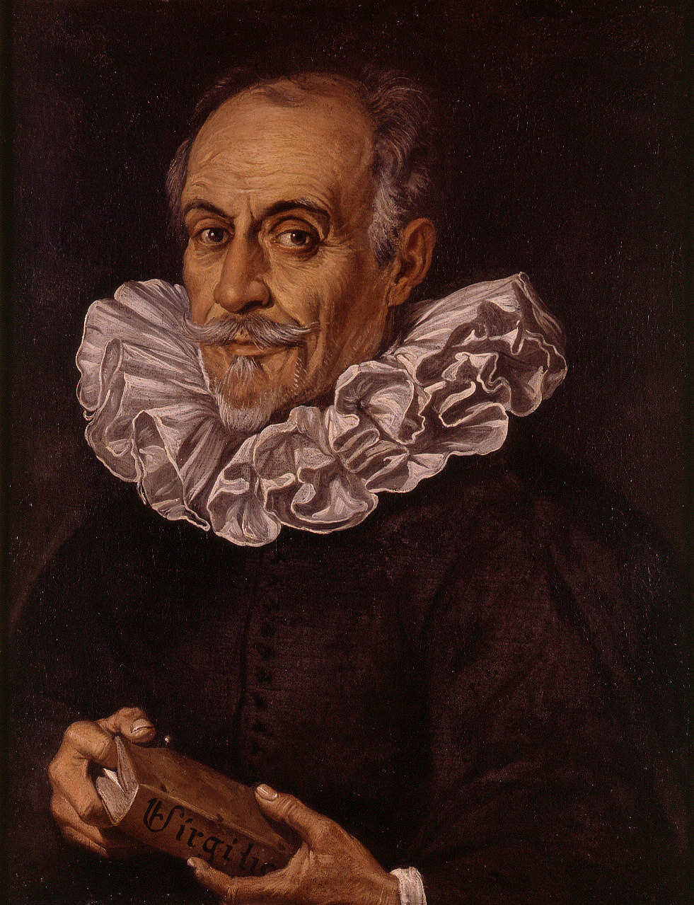 "spanishbaroqueart:  Juan Ribalta Portrait of the Poet Gaspar Aguilar  Gaspar Aguilar (Valencia, 1561 - Valencia, 1623) was a Spanish poet and dramatist, one of the great playwrights of the Spanish Golden Age. Aguilar was one of the founders of the Acadèmia dels Nocturns (""The Academy of Night""), for which he adopted the pen name of Sombra, meaning 'Shadow'."