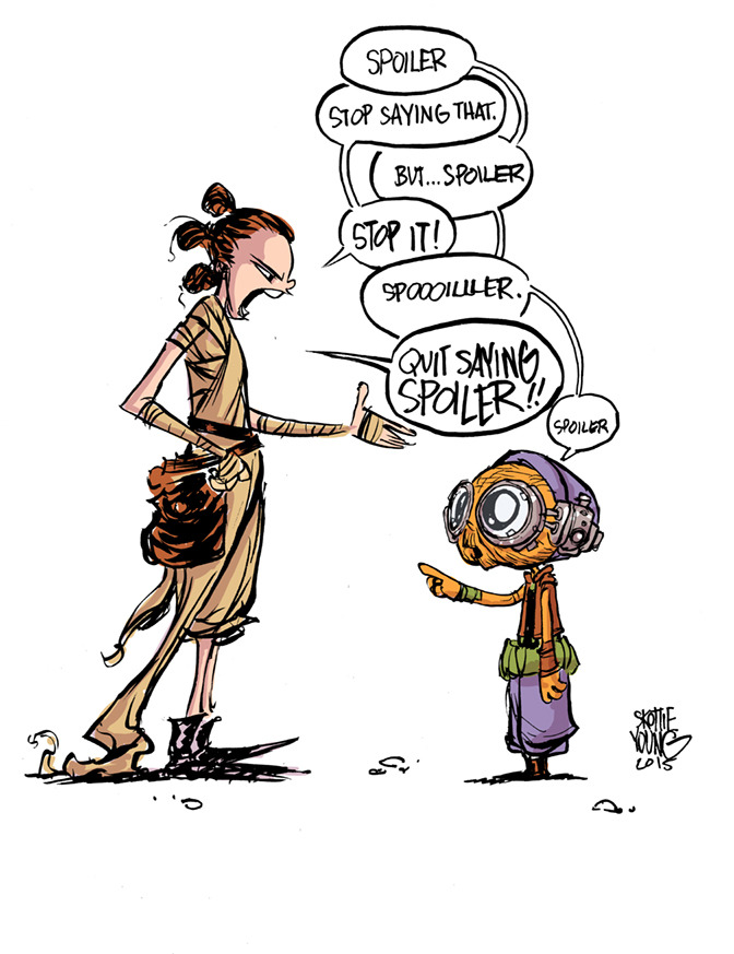 Rey and Maz SPOILER Skottie Young