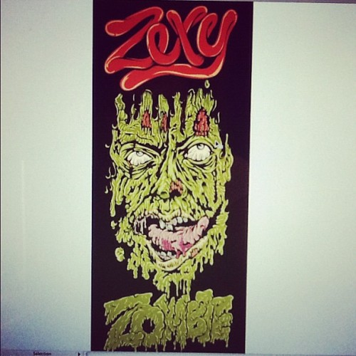 This #zombie is so Zexy noh?! #zombies #zombieillustration #illustrator #illustration #digitalart #vector #comicon
