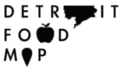 Detroit Food Map Building off of the sample logo that I made bidding for the Detroit Food Policy Council's logo and web design, I repurposed the logo to fit my ongoing research project. I built the site working off of a template theme and embedded a navigable Mapbox map.  http://detroitfoodmap.com @detroitfoodmap