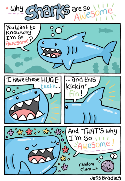 Stupid shark comic.