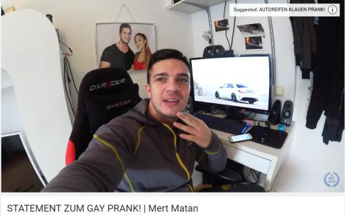 Reupload mert prank matan gay Mert Matan: