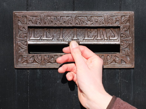 Letterbox in Hampstead, London UK
