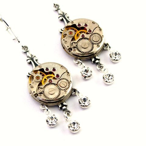 steampunkjewelry:  Lots of new Steampunk Jewelry on my blog today!