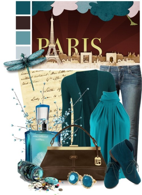 PPPPPPPARIS by queenrachietemplateaddict featuring satchel handbagsMichael Kors  top / Long sleeve cardigan / Paige Denim jeans, $320 / Lace up boots / Bric's satchel handbag / YooLa vintage jewelry / Fragrance / Results for crystal stems - Search I Z Gallerie