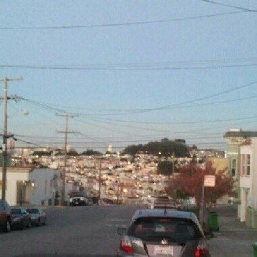 #Excelsior #view 2. On a clearer day you can see downtown. That's Bernal Hill.
