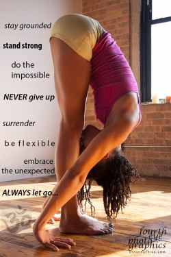blackyogis:  Standing Forward Bend    Uttanasana    Angelique Nelson of Moksha Yoga in Chicago lilrongal:   The model is Angelique Nelson, a teacher at Moksha Yoga in Chicago. Also my sister from another mister. ;) The photographer is Stacy Patrice of Fourth Eye Photographics. FLAWLESS.
