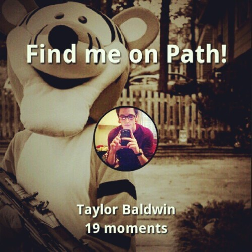 Look me up! :) #path