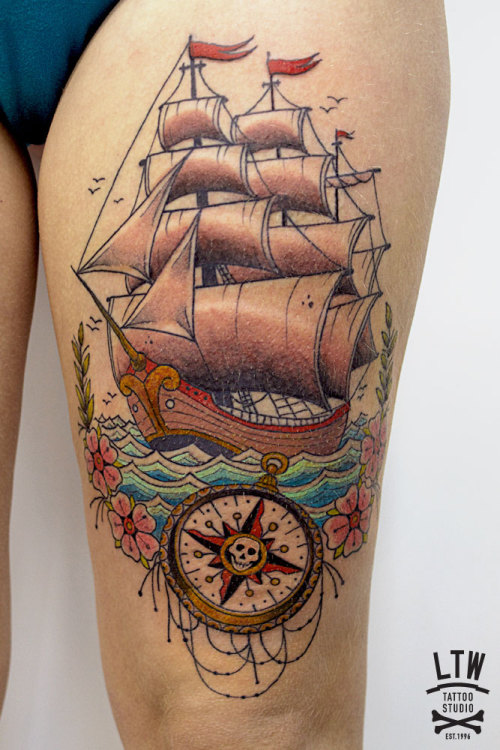 ltwtattoo:  Ship by Cisco, LTW Tattoo Studio.