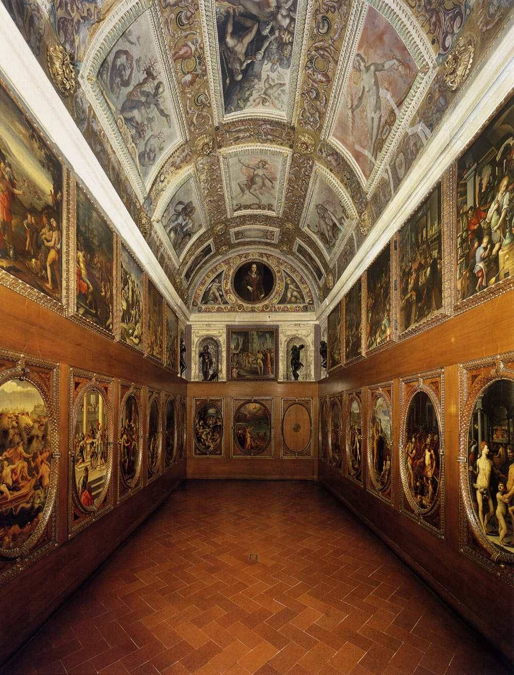 cavetocanvas:  Giorgio Vasari, View of the Studiolo, 1570-75