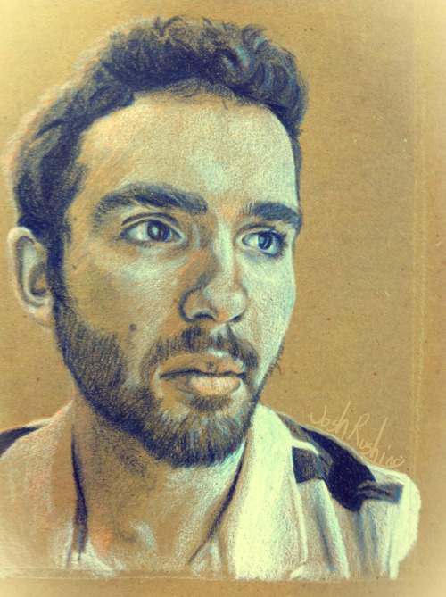 A self-portrait, done with colored pencils on brown paper. This was my senior project for my High School art class. It's weird knowing that I'll be graduating in a week, and soon moving on to college.