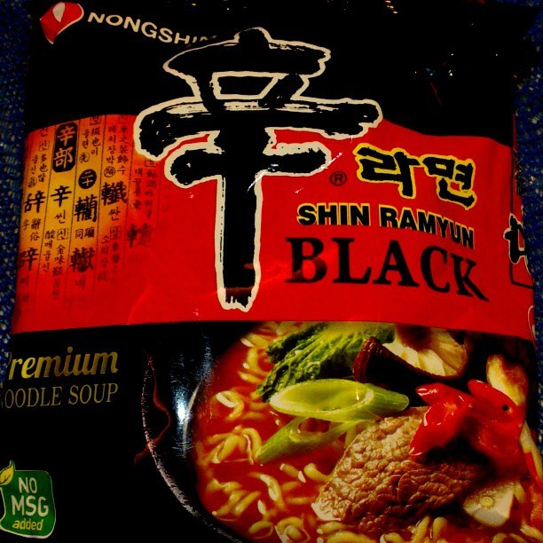 Tonight's dinner #instant #ramyun #food #instafood #nongshim #shinramyun #blackedition